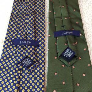Bundle of Two (2) J.Crew Men's Silk Ties